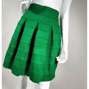 Anthropolgie Girls From Savoy Green Skirt